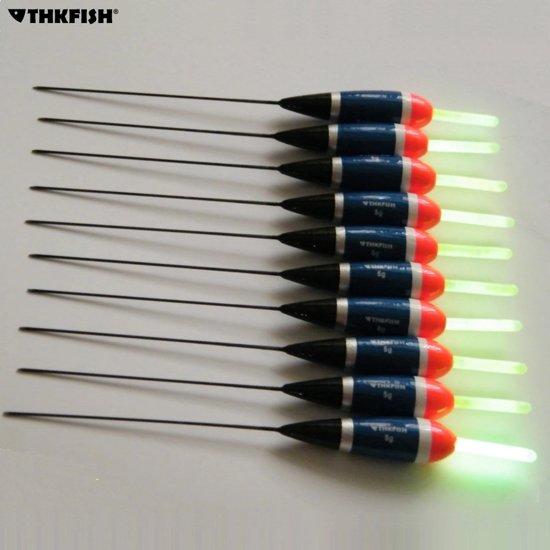 Lichtgevende dobbers- 10 stuks- 5 gram