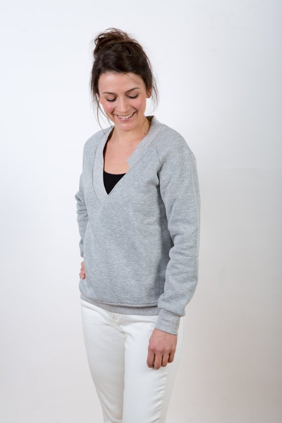 Gldn Voor V Vrouwen hals Trui MarilynSweater GrijsGrijze V neck kZOXiuP
