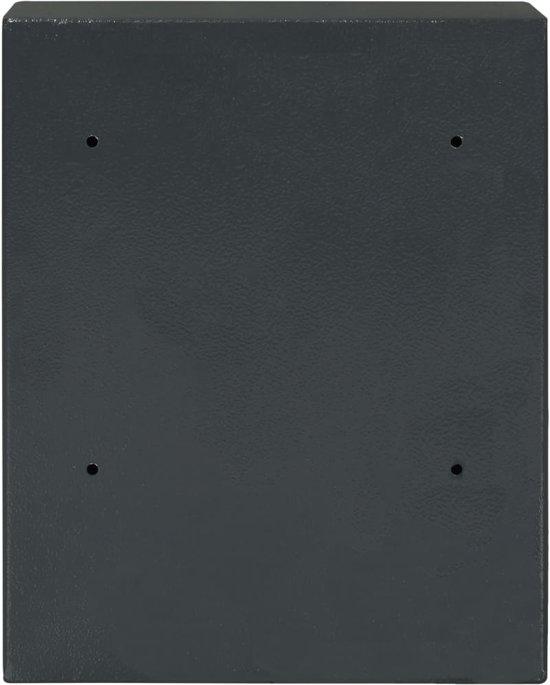 vidaXL Sleutelkluis 30x10x36,5 cm donkergrijs