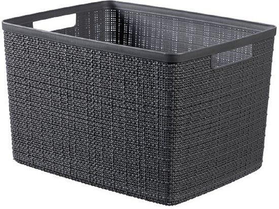 Jute Opbergbox Deep Shadow Large 20l 36,2x28,2xh23cm (set van 3)