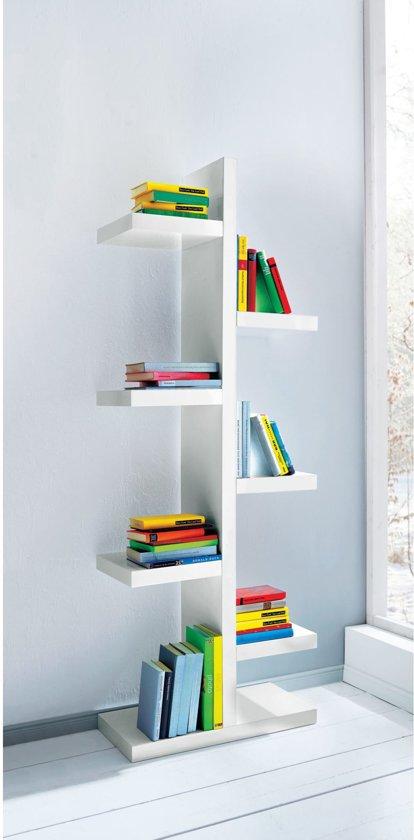 bol.com | PureDay Rek Balance - Vrijstaande boekenkast - MDF - Wit ...