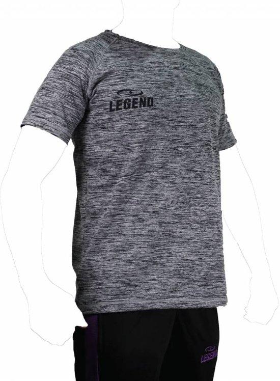 Legend Sports Dryfit Sportshirt Melange Zwart Maat Xxl