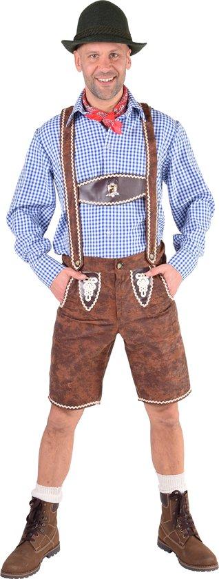 Bruine Lederhosen Dieter - Oktoberfest kleding heren maat XL/XXL (56/58)