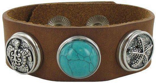 Quiges - Klaargemaakt Drukknoop Armband Set #289