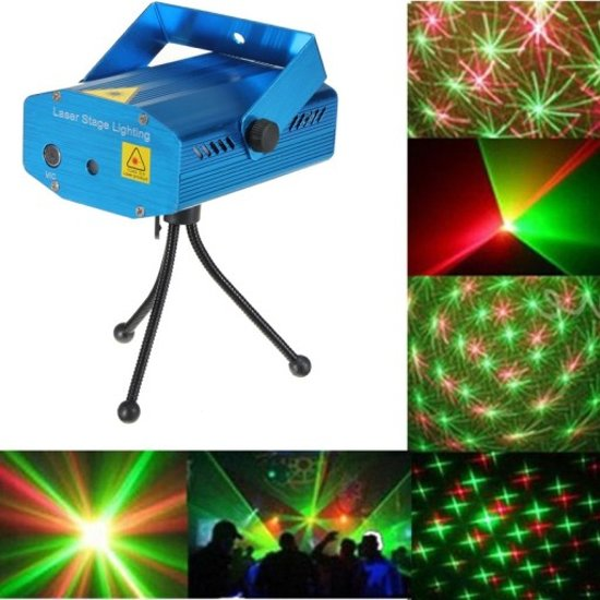 Sterrenhemel Laser Stroboscoop Projector Op Geluid - Flash LED Verlichting Disco Stage Lighting Lamp - Discolamp Laserlicht