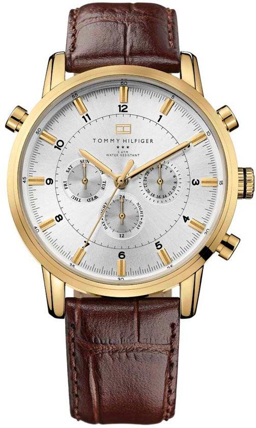 Tommy Hilfiger TH1790874 horloge heren - bruin - edelstaal doubl�