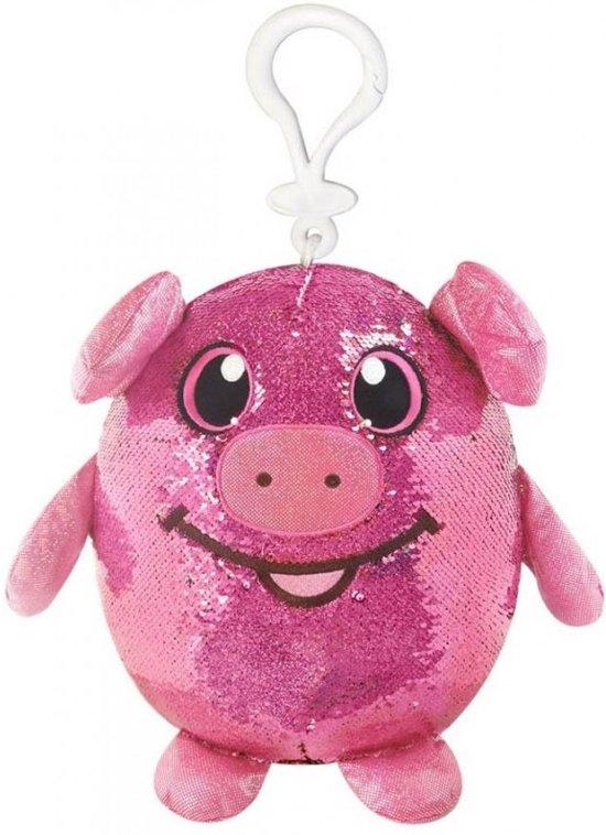 f1b445060b9695 Shimmeez Clip On Pig - Varken 10cm met omkeerbare glitter pailletten
