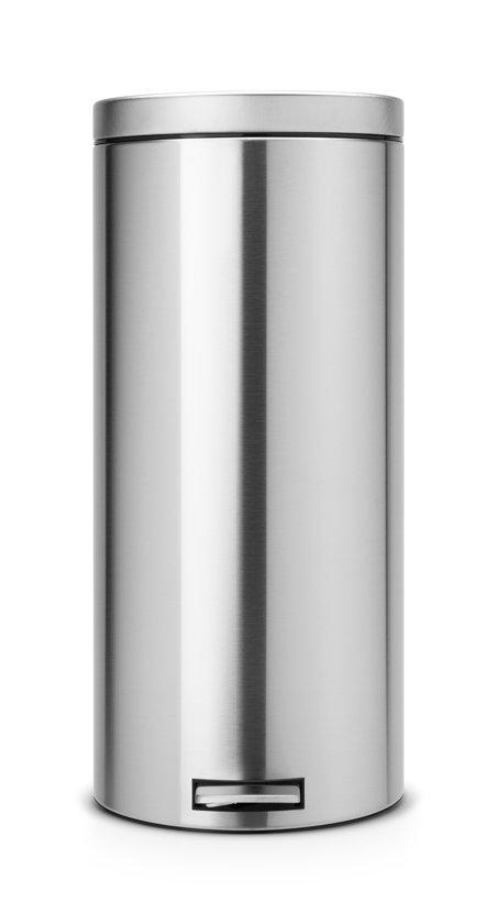 Brabantia Pedaalemmer 30 Liter Mat Rvs.Brabantia Classic Prullenbak 30 L Matt Steel