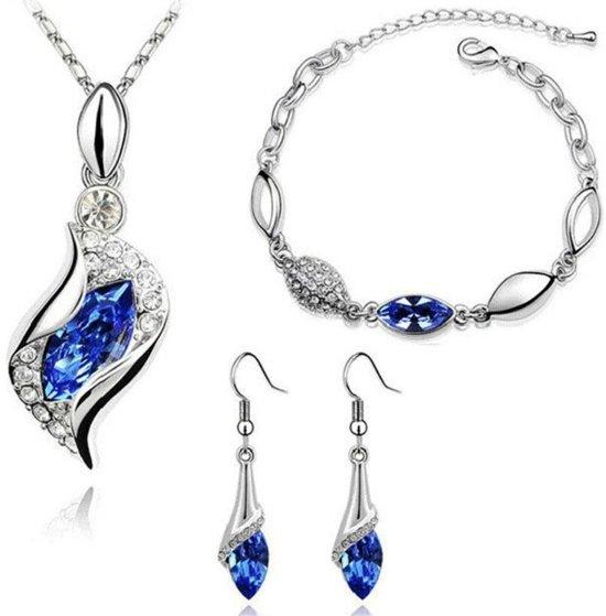 Magnifiek bol.com | Fashionidea – luxueuze zilverkleurige sieraden set met &DV01