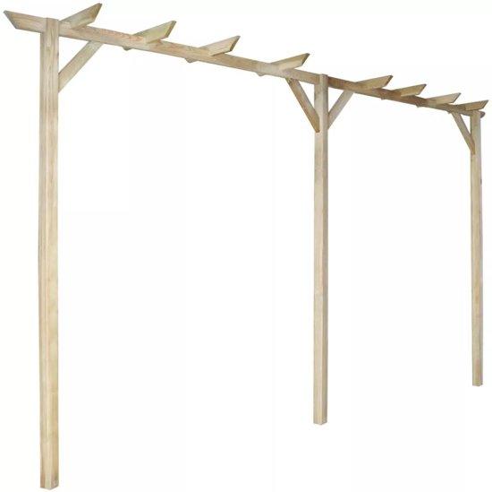 tuin pergola 400 x 40 x 205 cm hout. Black Bedroom Furniture Sets. Home Design Ideas