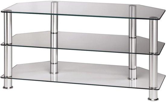 Glazen Televisie Tafel.Hama Tv Meubel Transparant Glas