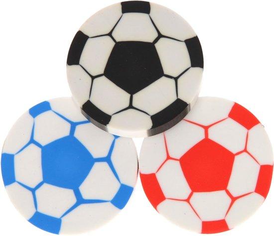 Voetbal gummen 8 stuks