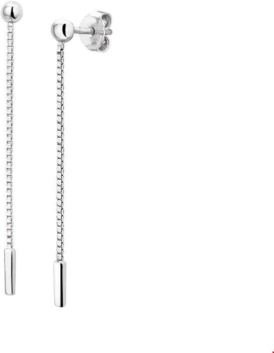 Huiscollectie Oorhangers Balkje Zilver Gerhodineerd Glanzend 42 mm x 1.5 mm