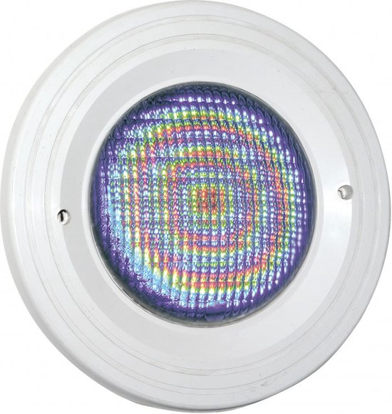 Zwembadlamp LED (kleur) + inbouwset Aquareva wit