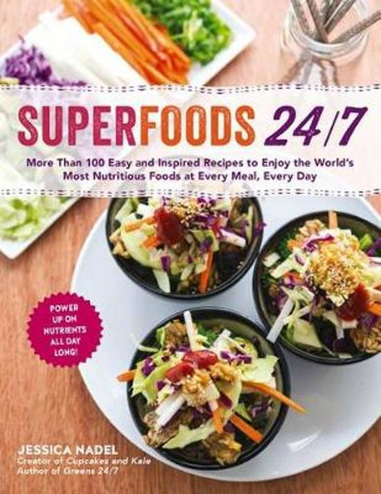 Boek cover Superfoods 24/7 van Jessica Nadel (Paperback)