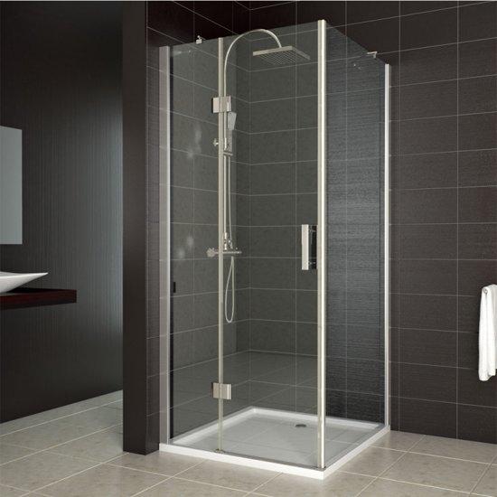 design douchecabine helder glas 80x80 cm. Black Bedroom Furniture Sets. Home Design Ideas