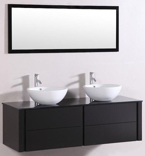 bolcom badkamermeubel 9012 120 cm kleur zwart met