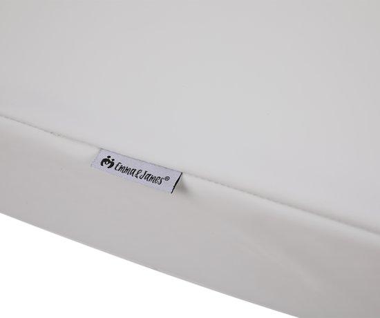 EMMA & JAMES ® Hoge Kwaliteit Waterdicht Aankleedkussen 72 x 44 cm Wit met opstaande randen / Waterproof Waskussen / SGS Gecertificeerd