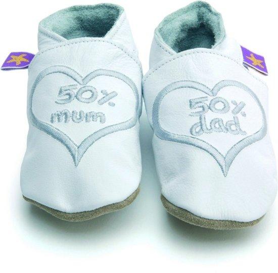 Starchild babyslofjes 50% mum and dad white silver Maat: 3XL (17,5 cm)