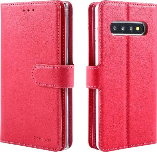 Hoesje voor Samsung Galaxy S5 of S5 Neo - Book Case - Schubben Print - Licht Roze Soft Pink - geschikt voor 3 pasjes in Allingawier