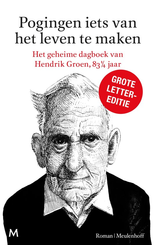 Boek cover Pogingen iets van het leven te maken | Grote lettereditie van Hendrik Groen (Hardcover)