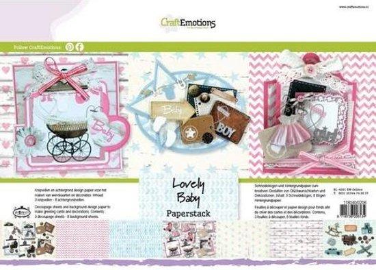 Afbeeldingsresultaat voor Craft emotions lovely baby paper stack
