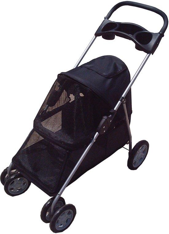 Topmast Hondenbuggy honden buggie 4 wielen Zwart 94 x 46 x 91,5 cm