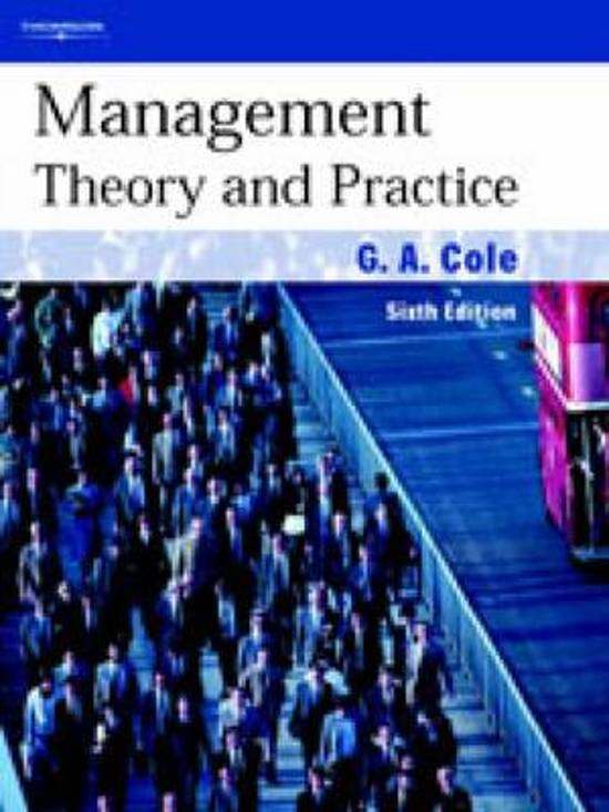Study notes for MANAGEMENT THEORY AND PRACTICE at ICM - Stuvia