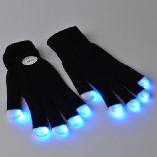 Led Handschoenen| Led Gloves | Carnaval | Feest | Feestkleding| LED zwarte handschoenen