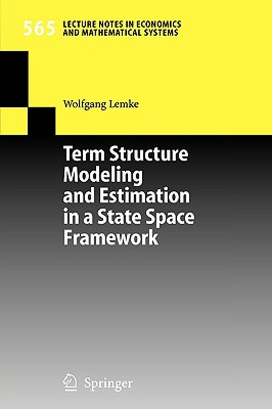 Term Structure Mode and Estimation in a State Space Framework