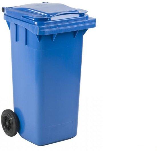Kunststof Kliko Rolcontainer Afvalcontainer Mini-container 240 Liter Blauw