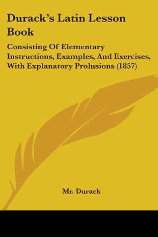 Durack's Latin Lesson Book