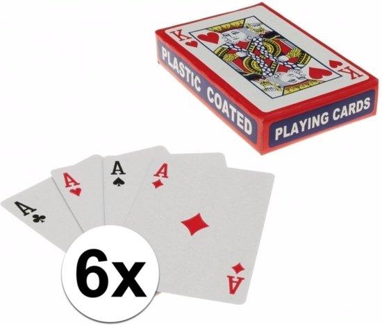 Afbeelding van het spel Speelkaarten setjes 6 stuks