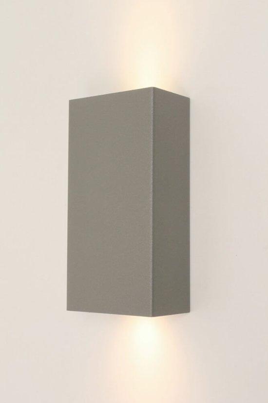 Vaak bol.com | Strakke metalen wandlamp METALLO | Betongrijs AU18