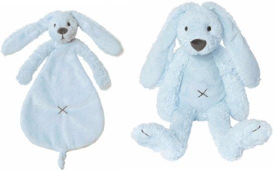 Knuffel Met Licht : Bol happy horse richie konijn licht blauw knuffeldoekje en