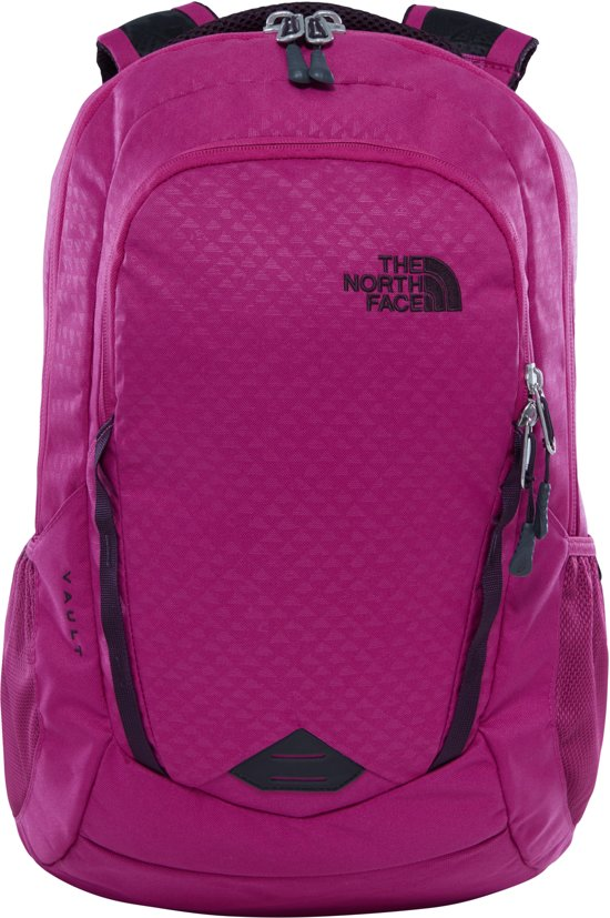 The North Face Vault Backpack White Aster Purple Emboss/Galaxy Purple