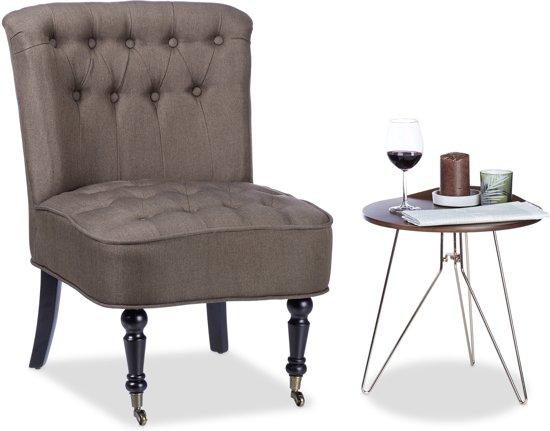 Stoel Met Wielen : Bol.com relaxdays cocktailstoel jaren 50 bruin 2 wielen