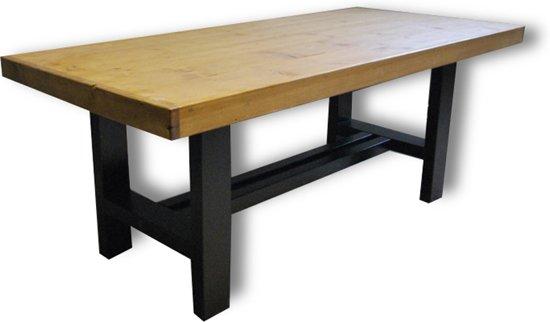 Bol.com tafel case 4 6 persoons eettafel bruin zwart