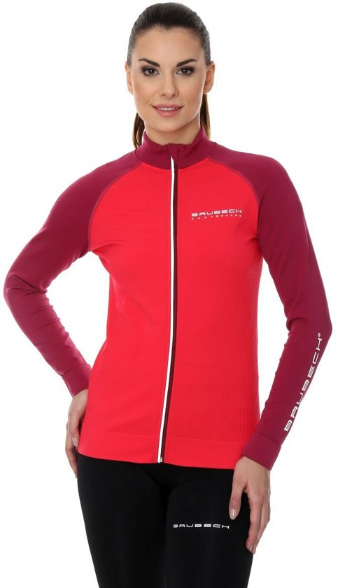 BrubeckAthletic Dames Active SportvestTrainingsjack amaranth Raspberry M Seamless shdCtQr