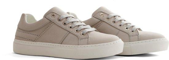 NoGRZ A.DeLaSota - Leren dames sneakers - Grijs - Maat 41