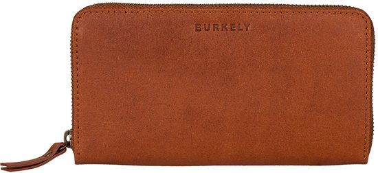 BURKELY Vintage Charly Dames Ritsportemonnee - Cognac