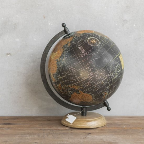Nieuw bol.com | Wereldbol globe antieke look Op Voet 28 cm XU-79