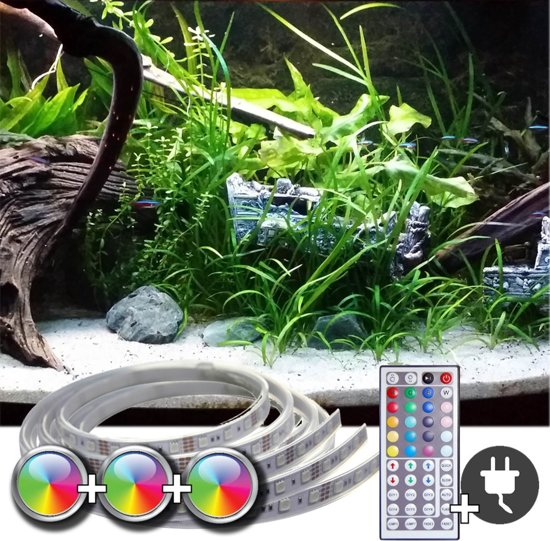 bol.com | 3 x RGB led strip: 70 - 100 cm complete set