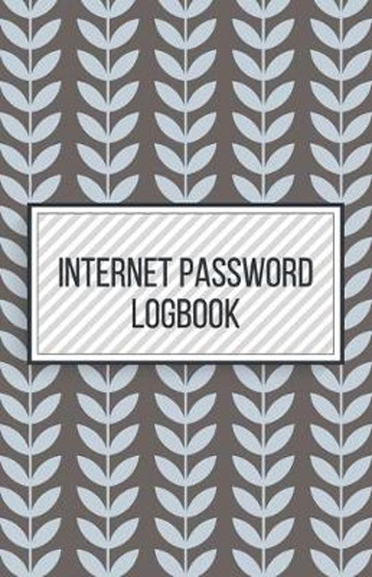 Internet Password Logbook-Small Size Alphabetical Password Notebook Organizer-5.5''x8.5'' 120 pages Book 5: Keep Track of Usernames Passwords Websites-B