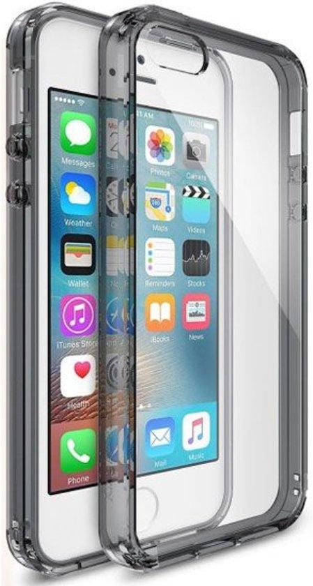 Ringke Fusion Apple iPhone SE Hoesje Doorzichtig Smoke Black in Kinderbos