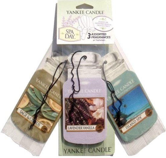 Yankee Candle Spa Day Car Jar 3-pack