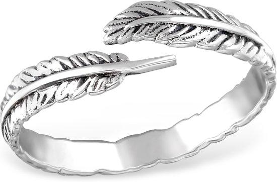 Silver open leaf ring   Sterling 925 Silver (Echt zilver)