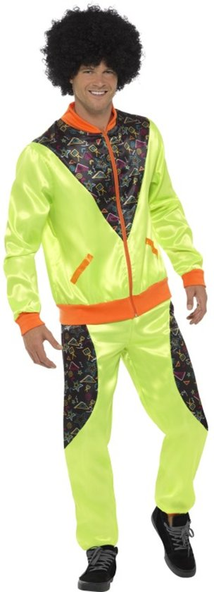 Retro Shell Suit Costume Mens