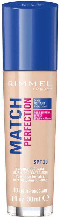 Rimmel London Match Perfection Foundation - Light Porcelain - Beige