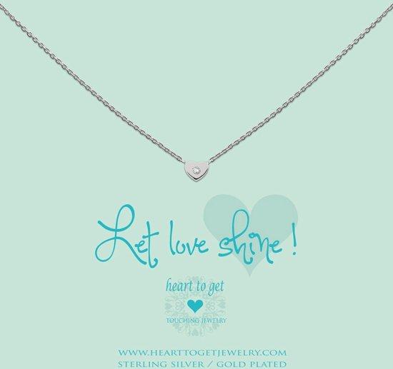 Heart to Get - Hanger Zilver necklace - heart zirkon Hanger One-size
